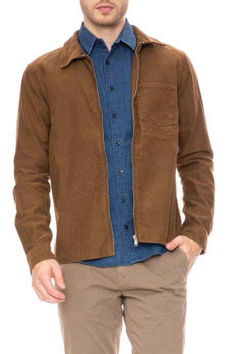 COF Studio Rib Cord Zip Jacket - Light Brown