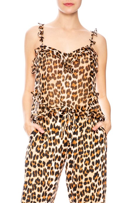 Icons Ruffle Teddy Cami - Leopard