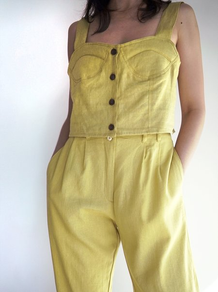Here. Button Bustier