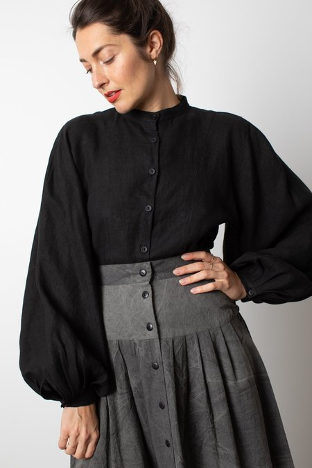 OR Linen Blouson - Black