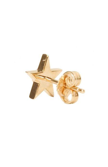 BETTINA JAVAHERI Single Star Stud Earring with Diamond