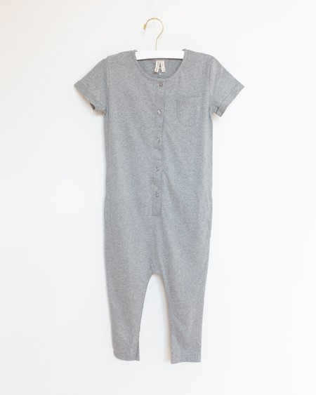 Kids Gray Label Playsuit - Grey Melange
