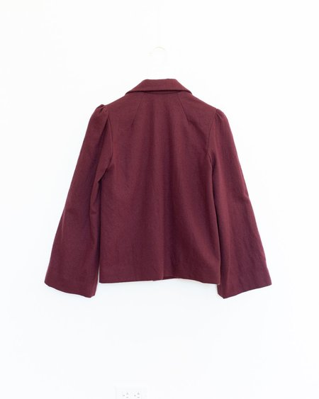 Town Clothes Regina Jacket - Merlot