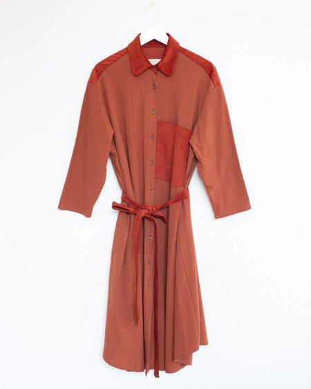 Sunja Link Shirt Dress - Cinnamon