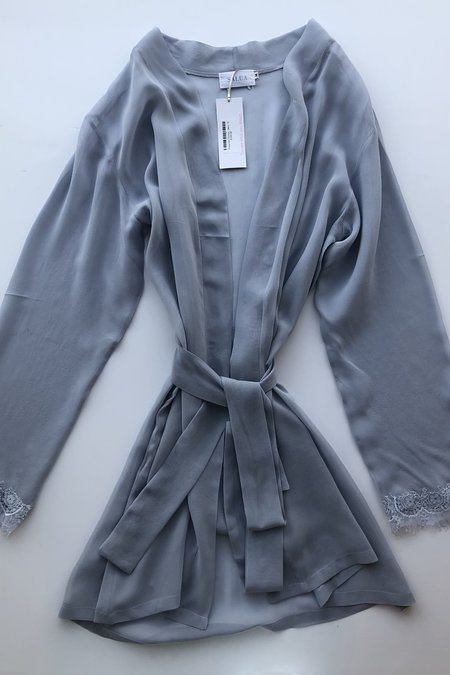Salua Chiffon Robe with Lace