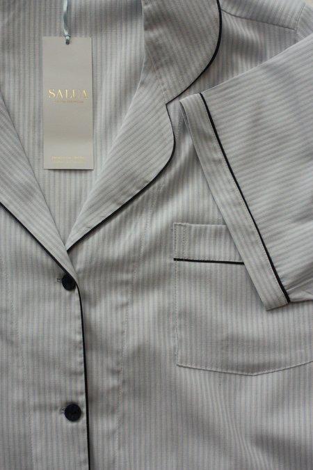 Salua Atelier Short Sleeve Capri Length Classic Cotton Pajama