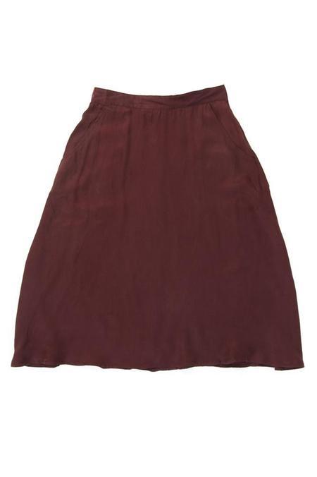 Bridge & Burn Cara skirt - Burgundy Crepe
