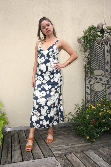 SIR the Label Bellagio Midi Slip Dress - Floral Print