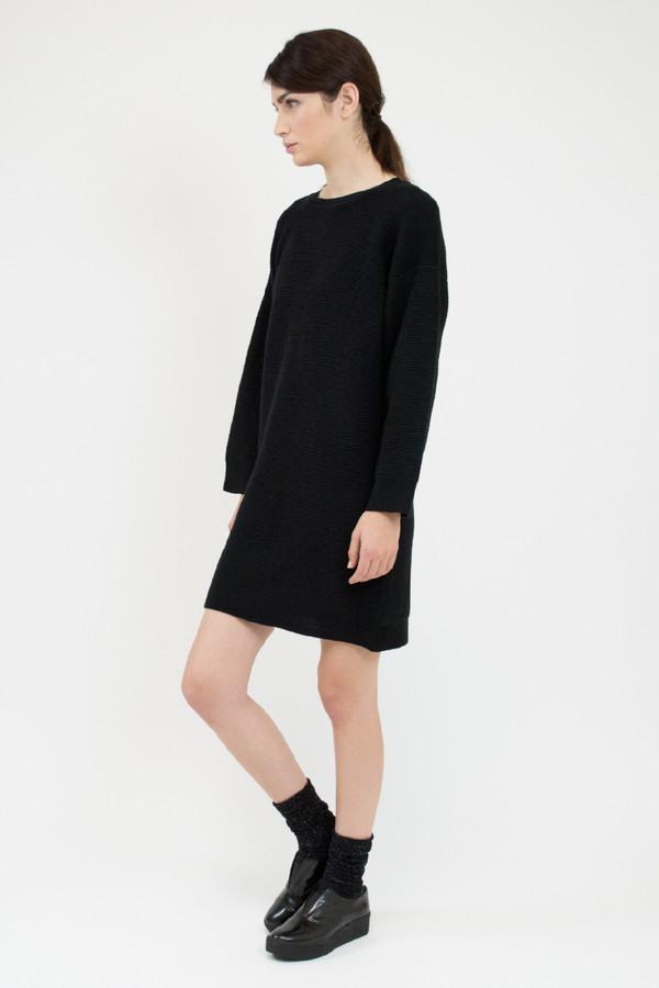 Micaela Greg Black Ripple Dress