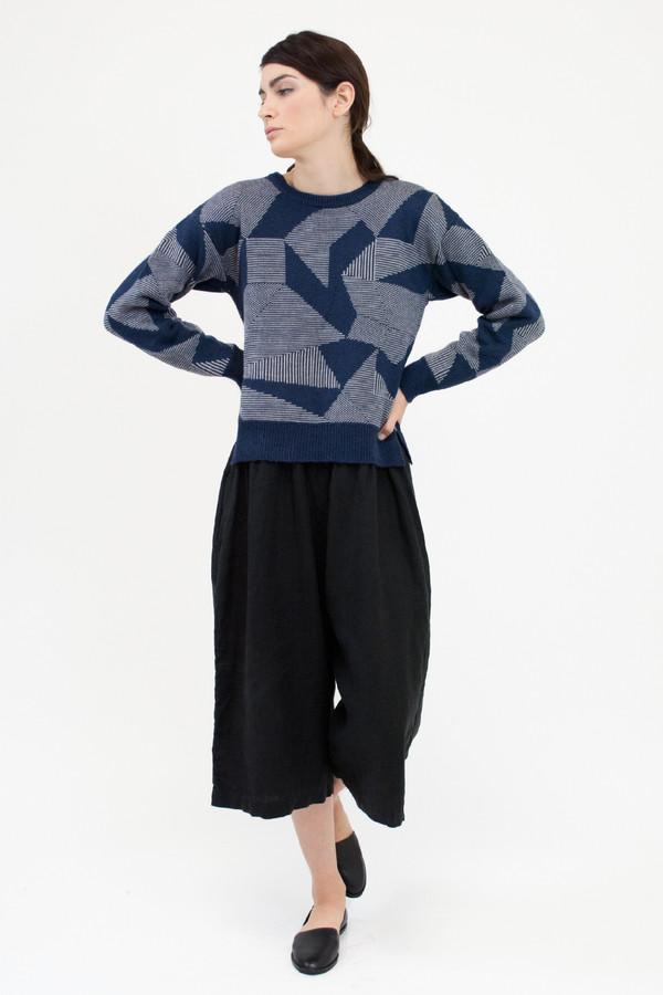 Micaela Greg Moonlight Blue Spectrum Sweater