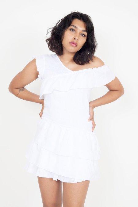 SIR the Label Ines Ruffled Mini Dress - White