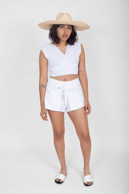 SIR the Label Ines Tie Mini Short - White