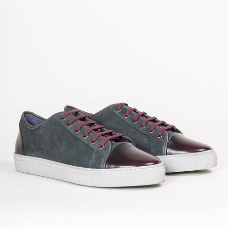 Noah Waxman Gotham Ll Sneaker - Gray/Burgundy