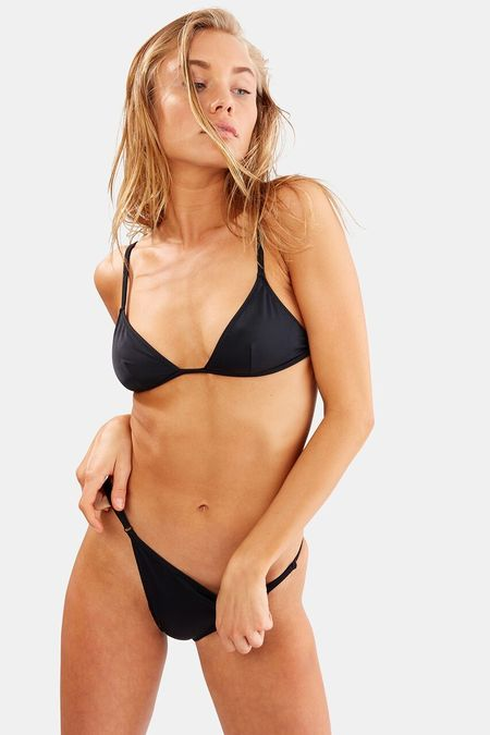 Solid and Striped Lulu Bottom - Black