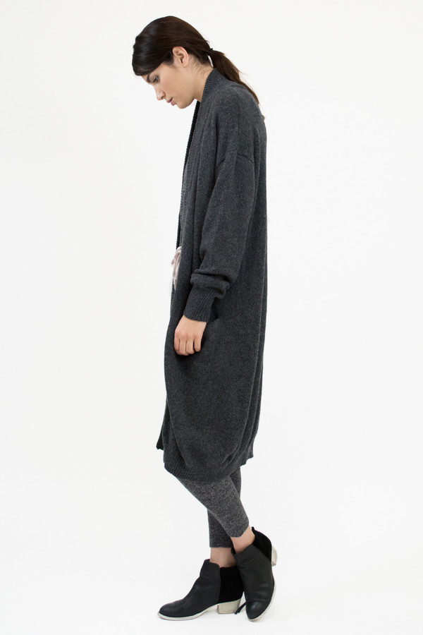 Micaela Greg Charcoal Duster Cardigan
