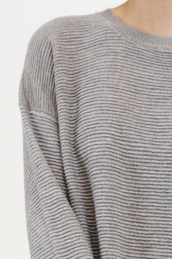 Micaela Greg Dove Grey Ripple Sweater