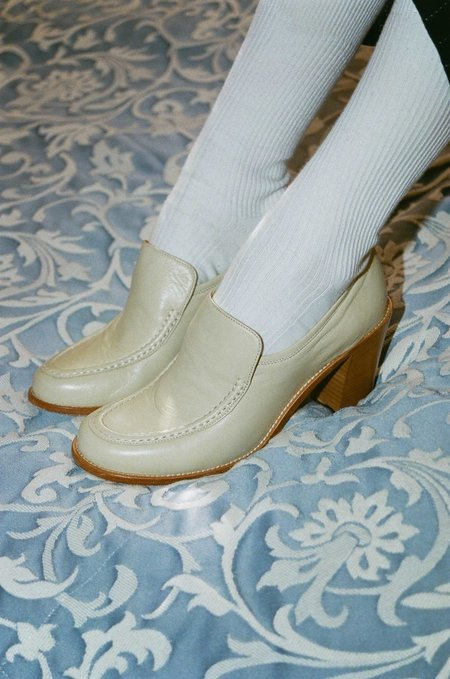 Maryam Nassir Zadeh Nora Calf Loafer - Cream
