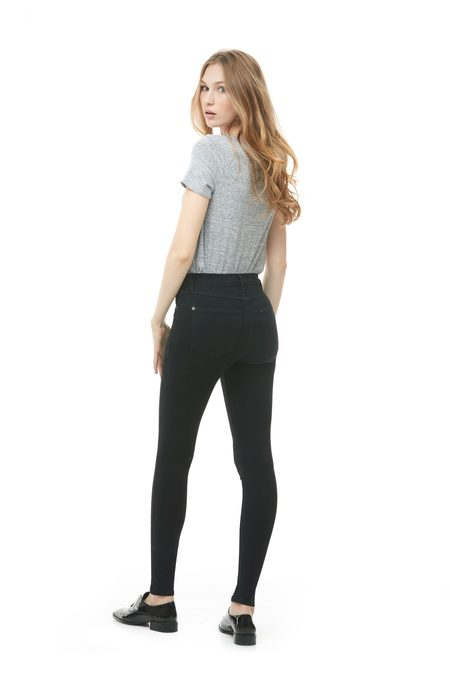 Yoga Jeans Woven Contemporary Rise Skinny - Pitch Black