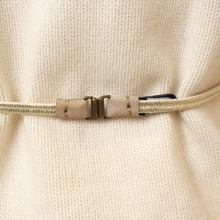 Exquisite j elastic belt - white