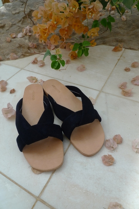A Detacher Pipit Sandals - Navy