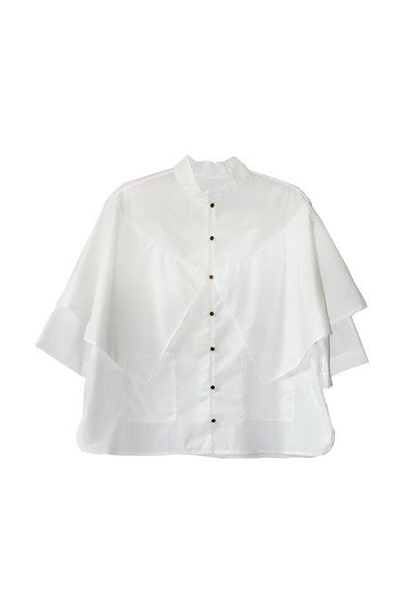 Suzanne Rae Mandarin Collar Shawl Top