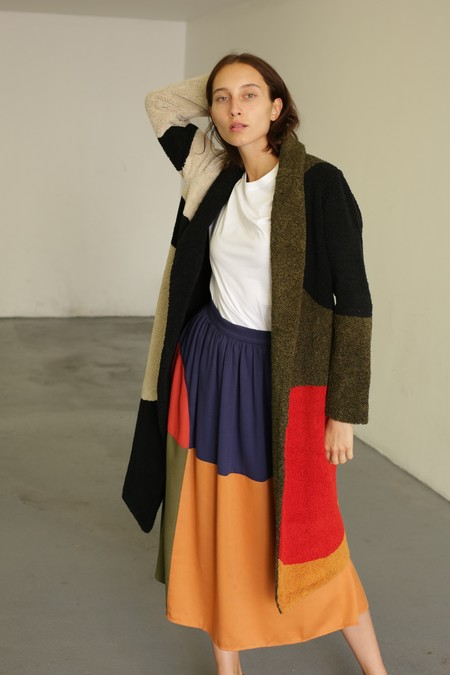 Mara Hoffman LetterMan Coat - Black Multi