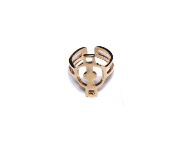 Alynne Lavigne  Deco Ring in 22k gold