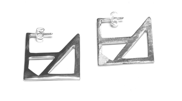 Alynne Lavigne Square Earrings in sterling silver