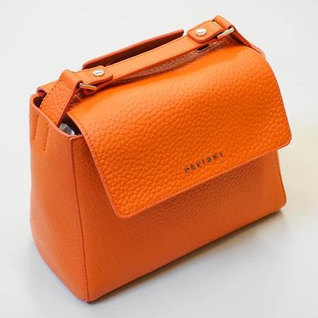 Orciani Sveva Small Leather Handbag - Orange