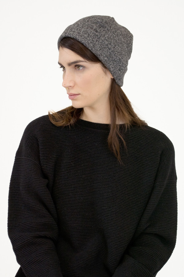 Micaela Greg Speckle Grey Crinkle Hat