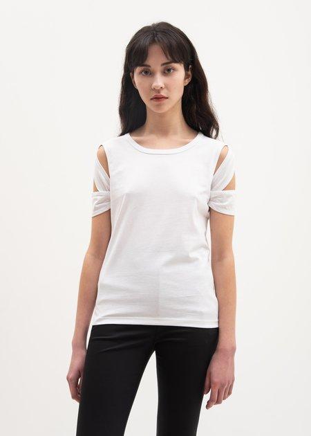 Helmut Lang Bondage Sleeve T-Shirt - White