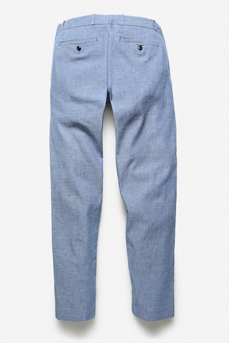 House of St. Clair Pleated Pant - Blue Chambray