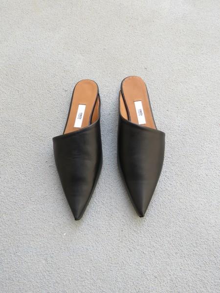 Miista Marlena Leather Flats - Black
