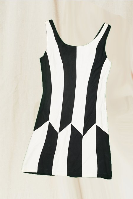 Vintage Jackie Dress - Black/White