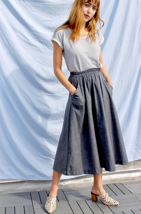 Curator Fawn Skirt - Antique Denim