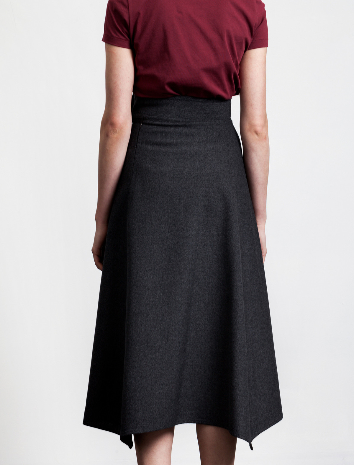 Butter Long High Waisted Skirt Slate   Garmentory