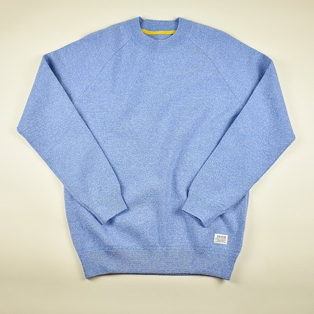 Deus Ex Machina Athletic Knit Crew Sweater - Sky Blue Marl