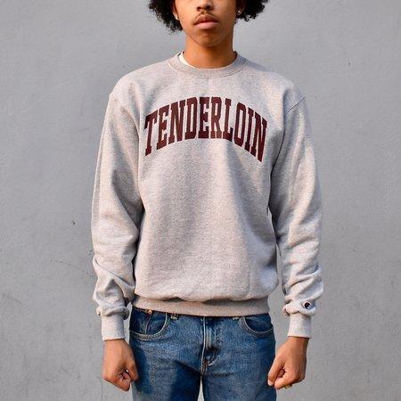 Tilted Brim TENDERLOIN Champion arch crewneck sweatshirt - grey/burgundy