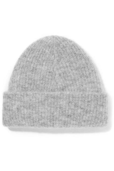 Ganni Ribbed-knit Callahan Beanie - Light Grey