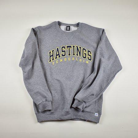 UNISEX Tilted Brim for UC Hastings crewneck sweatshirt - grey