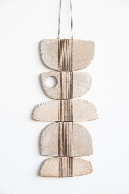 Amy Dov Sandy Banks Wall Hanging - Natural with Circle Detail