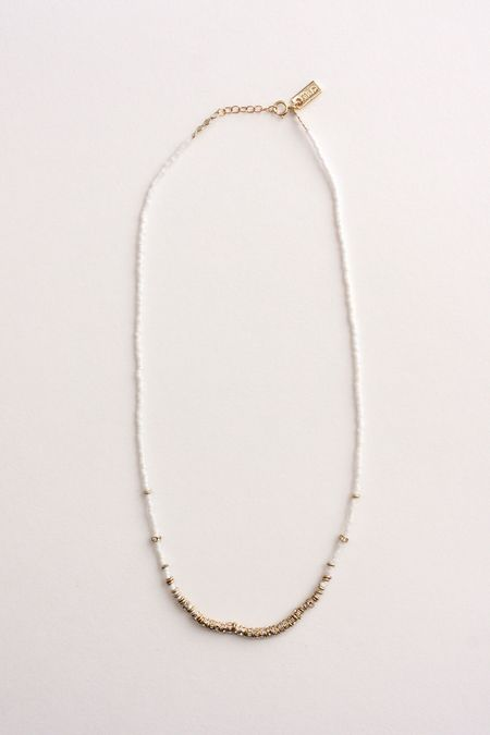IL Design North Short Full Necklace - White/Gold