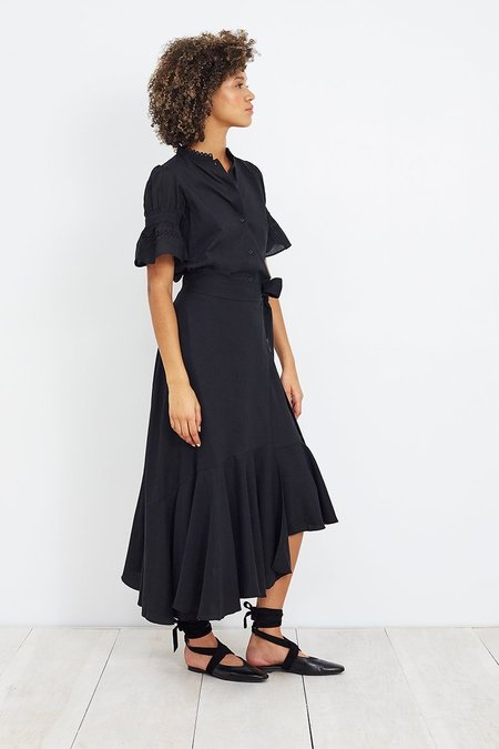 Apiece Apart Rosita Wrap Skirt - Black