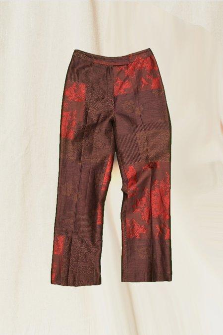 Vintage Brocade Pant - Brown