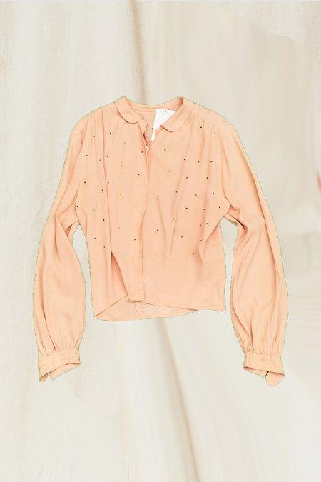 Vintage Rhinestone Blouse - Pink
