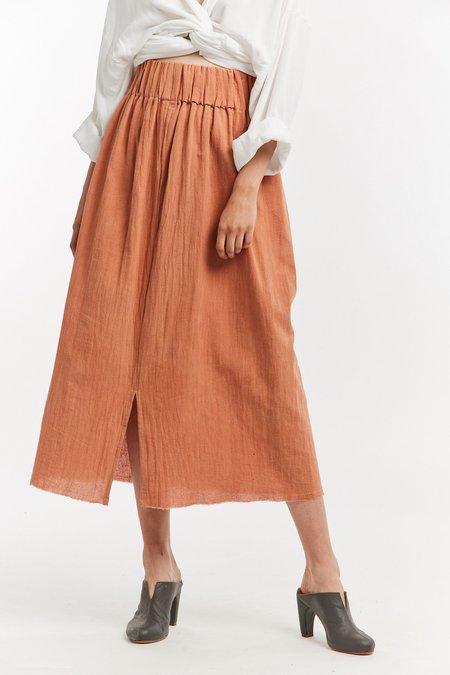 Miranda Bennett Textured Cotton Paper Bag Skirt - Taos