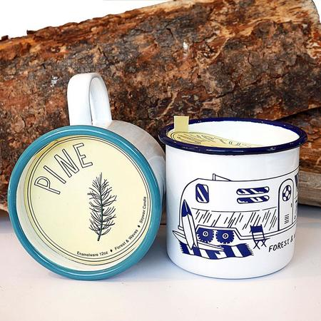 Forest & Waves Enamel Mug Candle