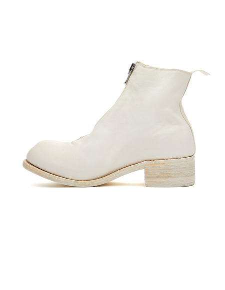Guidi Leather Zip-Up Boots - White