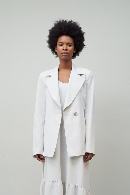 Nomia Double Breasted Jacket - Natural