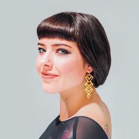 Nikki Jacoby Alderaan Earrings - Brass